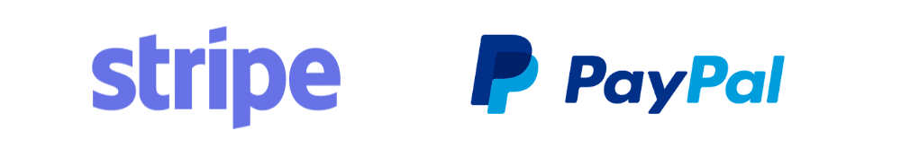 Paypal Stripe Accepted